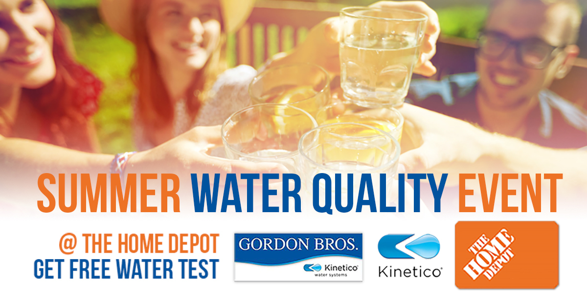 Summer Water Quality Event at Home Depot banner